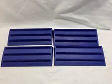 Set of 4 Blue Plastic Rummikub Racks Tile Holders