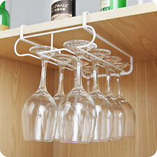 Useful Wine Glass Cabinet Rack Holder Stemware Metal Shelf Stand Kitchen Tool Us