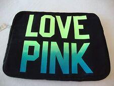 Victoria's Secret Love Pink black neon computer electronic bag tote soft case