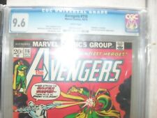 Avengers 116 CGC 9.6 white pages Silver Surfer vs Vision, Scarlet Witch cover