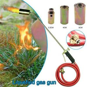 Long Arm Propane Butane Gas Torch Burner Blow Kit Roofers Roofing Brazing+Hose