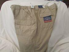"Men's ""Croft&Barrow"" Size 52, Sclptd Stn Color, Side Elastic,Cargo Shorts"