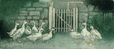 L VALERIE CHRISTMAS Signed Aquatint Etching DUCKS 36/80