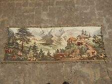 Vintage French Beautiful Scene Tapestry 60x153cm A976