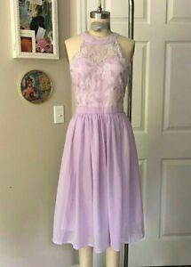 Forever 21 Lilac Chantilly Lace Lavender Taffeta Goddess PROM Dress *X-LARGE*