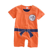 Bebé Recién Nacido Niño Niña Cartoon Dbz Bodis Mono Braga Trajes Camiseta