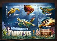 SIERRA LEONE 2016 MARINE LIFE TURTLES  SHEET  MINT NH