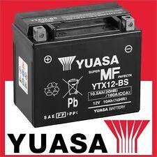 YUASA Batterie YTX12-BS Motorradbatterie Akku 10AH AGM MF COMBIPACK Wartungsfrei