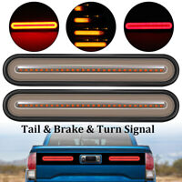 Rear Brake Turn Signal LED Tail Light Bar Truck Trailer RV Camper Waterproof 12V
