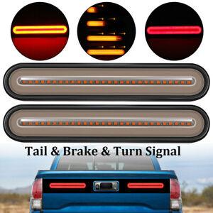 2x 12V Rear Stop 100LED Lights Tail Brake Indicator Truck Van Lamp Trailer Light