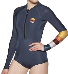 NWT  Rip Curl G Bomb Long Sleeve Spring HI Cut Wetsuit Multi Size 4