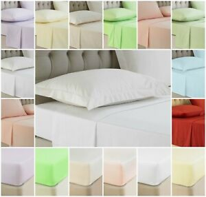 Luxury Hotel Quality 100% Egyptian Cotton Flat Bed Sheets 200TC Double King SK