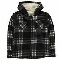 Lee Cooper Hooded Fleece Shirt Youngster Boys Zip Hoodie Hoody Top Full Length