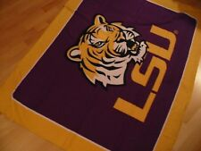 Louisiana State University Polar Fleece Throw Blanket Tiger Graphic
