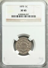 1870 Shield Nickel FS-301 Mule Die Clash and RPD NGC XF45 RARE! #BCI7