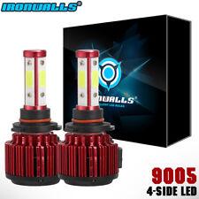 IRONWALLS 4-Side LED Headlight Kit 9005 HB3 1500W 225000LM 6000K High Beam Bulbs