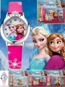Frozen Children's Kids Watch and Wallet Set For Christmas-Birthday Gift-Present