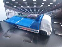 Hot wheels Aero Lift Auto Flat Bed Truck Nissan Garage Premium Exclusive