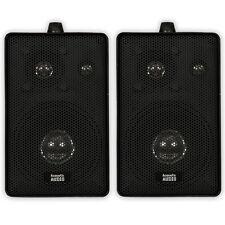 Acoustic Audio 251B Indoor Outdoor 3 Way Speakers 400 Watt Black Pair