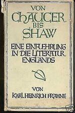 Karl Heinrich Frahne - Von Chaucer bis Shaw