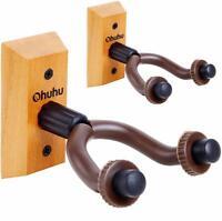 2-Pack Ohuhu Guitar Hanger Wall Hook Holder for Electric Acoustic Guitar Ukulele