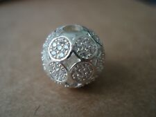 Genuine THOMAS SABO Sterling Silver Karma Bead Charm  Little circles with CZ