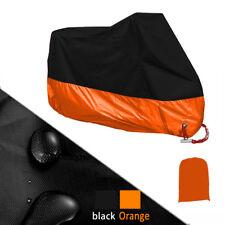 4XL Orange Motorcycle Cover Waterproof For Harley Davidson Street Glide Touring
