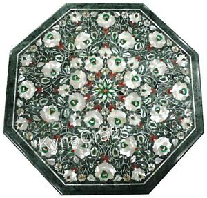 24 Inches Marble Sofa Table Pietra Dura Art Coffee Table Top from Cottage Art