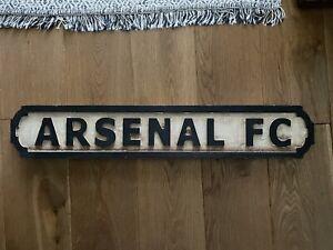 Arsenal FC Wooden Memorabilia Road Sign Artwork