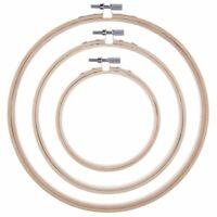 3 Stueck Stickrahmen Bambus Kreis Kreuzstich Hoop Ring Set fuer Kunst Handwe 1M7