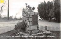 D95/ Wickenburg Arizona Az Real Photo RPPC Postcard 1947 Henry Monument 2