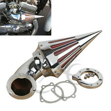 Chrome Spike Air Cleaner Intake Filter For Harley CV Carb Custom Sportster