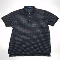 Ralph Lauren Polo Golf Black Short Sleeve Casual Polo Shirt Men's Size Large L
