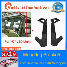 "Mounting Bracket Fits For Jeep Wrangler JK 07~Now 52""inch 300W LED Light Bar RAY"