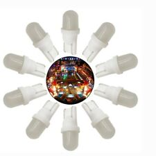 10pcs Lampes Ampoules LED # 555  T10 194 Flipper Bally - Williams (blanc  chaud)