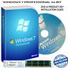 Windows 7 Professional 64-Bit Installation Format HDD DVD Disc & Product key COA