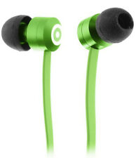 KitSound in Ear Ribbons Earphones Green W/ Microphone for Apple iPhone 3g 4