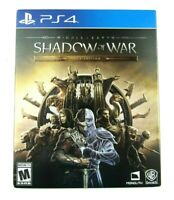 Middle Earth: Shadow Of War Gold Steel Book Edition PS4 Playstation 4 (used)