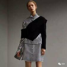 $1195 Burberry Asymmetrical Rib Knit Wool Cashmere Sweater