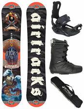 AIRTRACKS Set de Snowboard Mr. Yash Charbon Zero Rocker + Liaison Master +