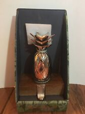 Tommy Bahama Holiday Stocking Holder Pineapple Copper Rose