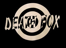 DEATH FOX logo med T shirt bizarre target tee B&W band rock bull's eye OG