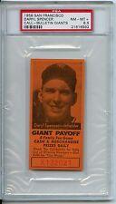 1958 San Francisco Daryl SpencerCall-Bulletin Giants PSA 8.5  Pop 1