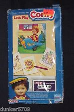 TALKING CORKY DOLL CRICKET'S BROTHER BOOK/TAPE LET'S PLAY AT MY HOUSE IN BOX