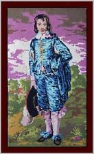 Grazioso punto croce mezzo punto ritratto giovane Lord da dipinto del Settecento