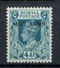 Burma 1945 SG#45, 4a KGVI Optd Mily Admn MNH #C90