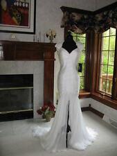 Mac Duggal 81465P Exclusive White Silk Pageant Gown 6