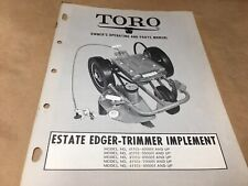 toro estate edger trimmer rotary implement parts list,IPL ,antique toro tractor