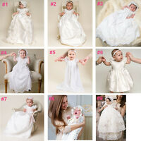 0-24 months Baby Flower Girls Christening Gown Party Baptism Lace Outfits Dress