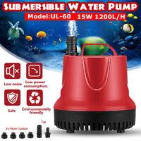 900-3800L/H 220-240V Submersible Water Pump Aquarium Fish Pond Tank Spout Marin`